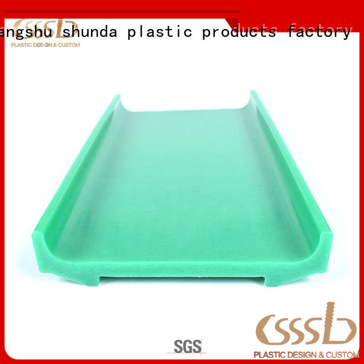 CSSSLD widely used extruded plastic profiles bulk production for advertise display