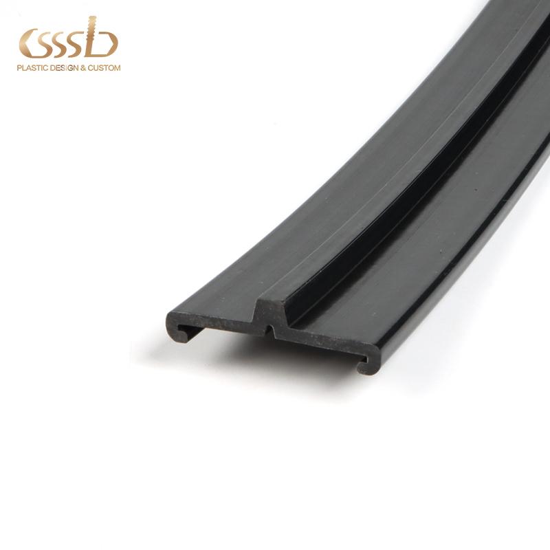 PVC extrusion sliding track profile factory customized shape and sizes
