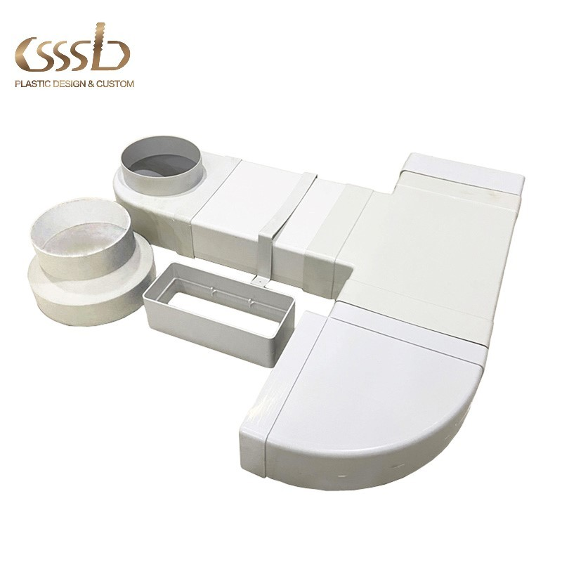Plastic ventilation duct and fittings