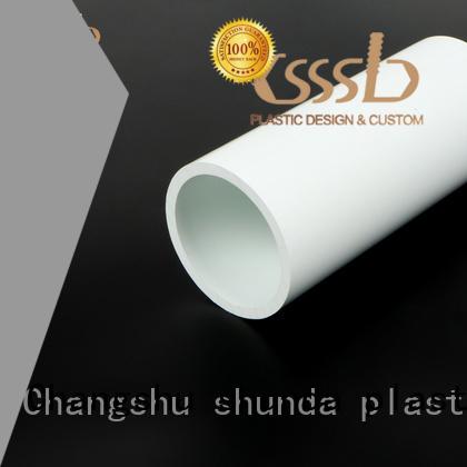 easy to install pvc rectangular tube oem for exhaust