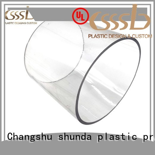 CSSSLD easy to install clear plastic pipe vendor for packing